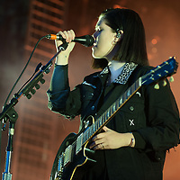 The xx in concert at SWG3, Glasgow, Scotland 29th August 2017