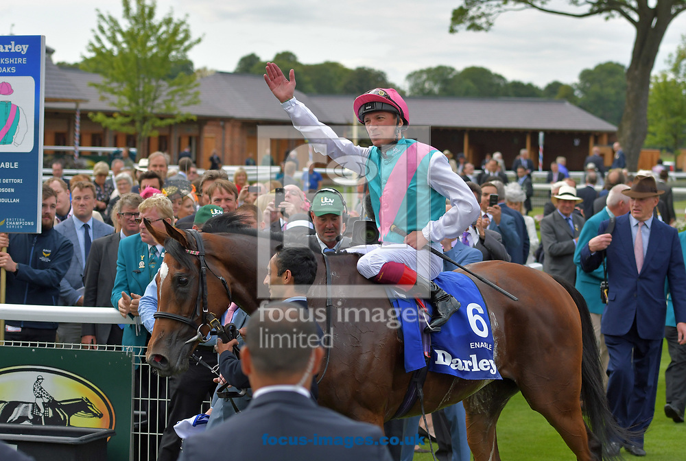 Enable ridden by Frankie Dettori wins Darley Yorkshire Oaks  on day two of the Ebor Festival at York Racecourse, Yorkshire<br /> Picture by Martin Lynch/Focus Images Ltd 07501333150<br /> 24/08/2017