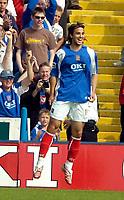 Photo: Ed Godden.<br /> Portsmouth v Liverpool. The Barclays Premiership. 28/04/2007. Niko Kranjcar celebrates scoring the second goal for Portsmouth.