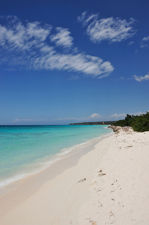 Beach at Bahia de loas Aguilas near Cabo Rojo,Dominican Republic, Caribbean..