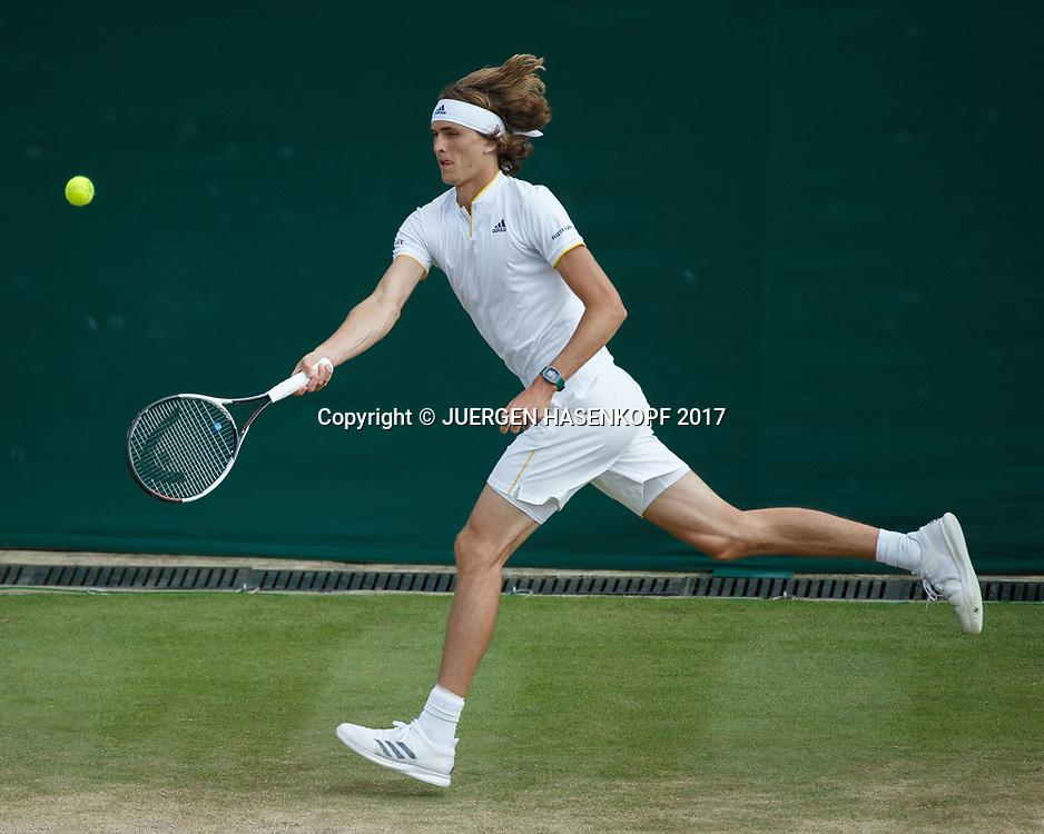 ALEXANDER ZVEREV (GER)<br /> <br /> Tennis - Wimbledon 2017 - Grand Slam ITF / ATP / WTA -  AELTC - London -  - Great Britain  - 10 July 2017.