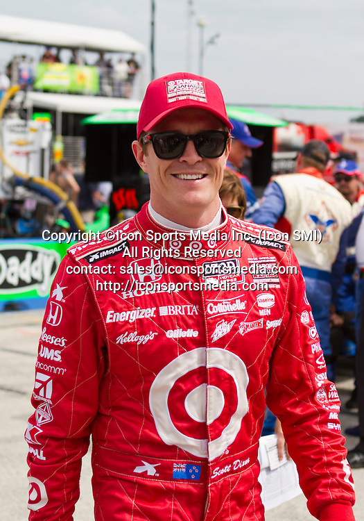 June 15, 2013: Scott Dixon (9) of Target Chip Ganassi Racing prior to the start of the Milwaukee IndyFest race at the Milwaukee Mile in Milwaukee, WI.