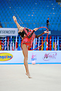 Berezko Jana during qualifying at hoop in Pesaro World Cup 10 April 2015.<br />