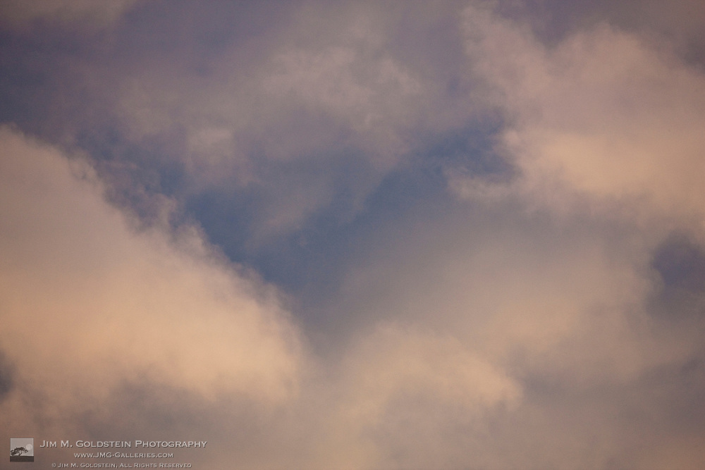 Cloud abstract with sunset light