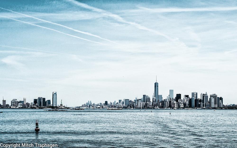 Manhattan and Jersey City