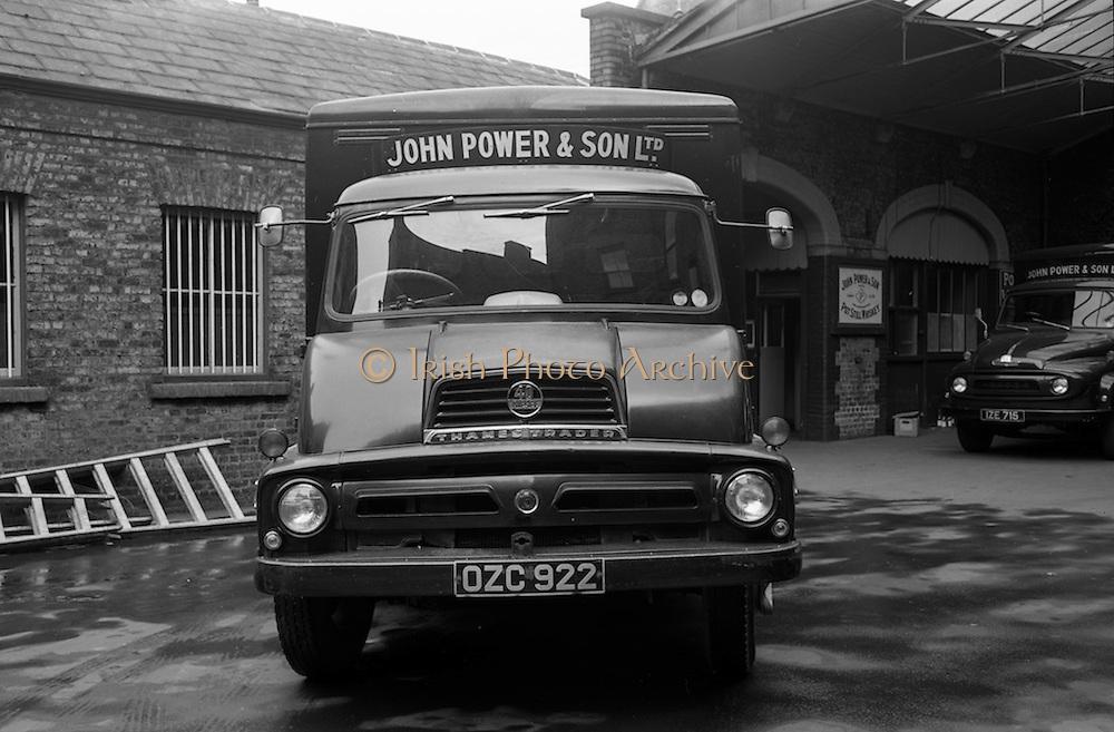 25/08/1965<br /> 08/25/1965<br /> 25 August 1965<br /> Powers Distillery vans at John Power Ltd.  Distillery, Johns Lane, Dublin.