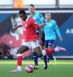 Bristol City's Jay Emmanuel-Thomas in action against AFC Telford in FA Cup second round tie at Ashton Gate - Photo mandatory by-line: Paul Knight/JMP - Mobile: 07966 386802 - 07/12/2014 - SPORT - Football - Bristol - Ashton Gate - Bristol City v AFC Telford - FA Cup Second Round