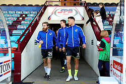 Lee Brown of Bristol Rovers and team mates walk out for the warm up - Mandatory by-line: Matt McNulty/JMP - 11/11/2017 - FOOTBALL - Glanford Park - Scunthorpe, England - Scunthorpe United v Bristol Rovers - Sky Bet League One
