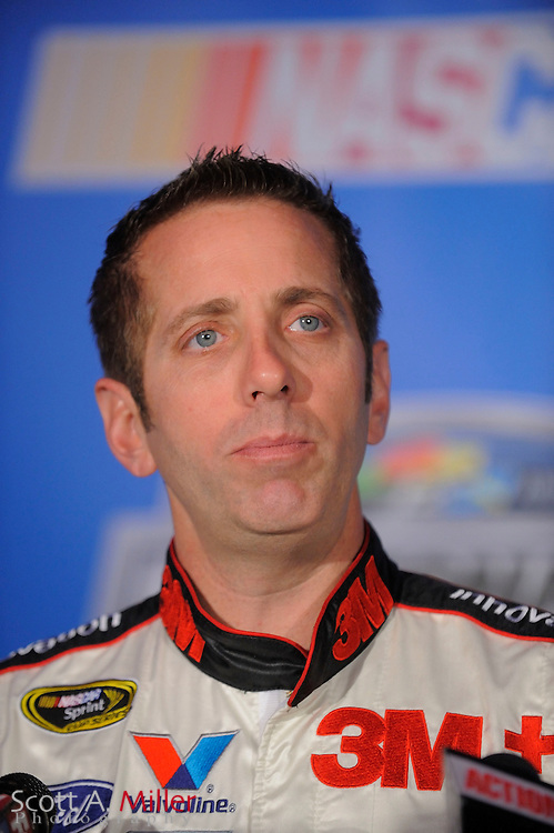 Greg Biffle speaks to the media during NASCAR media day at the Daytona International Speedway on Feb. 10, 2011 in Daytona Beach, Fl...©2011 Scott A. Miller