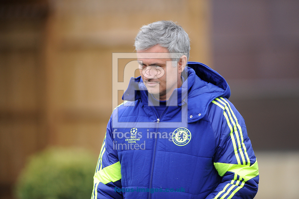 Manager Jose Mourinho during Chelsea training at the club training ground, Cobham<br /> Picture by Daniel Hambury/Focus Images Ltd +44 7813 022858<br /> 16/02/2015