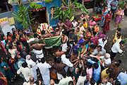 Festival at small Hindu temple off Jampettah Street.