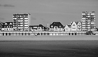 Le Touquet, Beach Huts And Sea Front Houses - Pas-De-Clais, France, July 2017