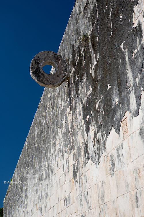 Goalpost close up, the Ballcourt, Gran Juego de Pelota, Chichen Itza, Yucatan, Mexico