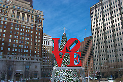 Love Park in Christmas mode