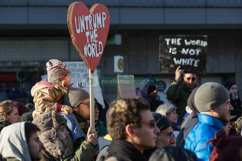 &quot;Pussy grabs back&quot; protest rally in Berlin-Neukoelln against the election of Donald Trump as next US-president. - Berlin / 121116<br /> <br /> Protest-Kundgebung in Berlin-Neukoelln mit dem Motto &quot;Pussy grabs back&quot; gegen die Wahl von Donald Trump zum US-Pr&auml;sidenten.