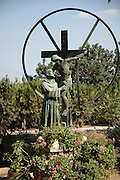 Israel, Galilee, Jezreel Valley, mount Tabor, Roman Catholic church of the Transfiguration.