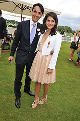 KATIE MELUA and FRANCOIS LE TROQUER at the Cartier Queen's Cup Polo Final, Guards Polo Club, Windsor Great Park, Berkshire, on 17th June 2012.