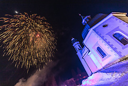 20.02.2019, Seefeld, AUT, FIS Weltmeisterschaften Ski Nordisch, Seefeld 2019, Eröffnungsfeier, im Bild Feuerwerk // Fireworks during the opening ceremony of the FIS Nordic Ski World Championships 2019. Seefeld, Austria on 2019/02/20. EXPA Pictures © 2019, PhotoCredit: EXPA/ Dominik Angerer