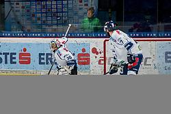 01.01.2018, Ice Rink, Znojmo, CZE, EBEL, HC Orli Znojmo vs Fehervar AV 19, 35. Runde, im Bild v.l. MacMillan Carruth (Fehervar AV19) Brett Palin (Fehervar AV19) // during the Erste Bank Icehockey League 35th round match between HC Orli Znojmo and Fehervar AV 19 at the Ice Rink in Znojmo, Czech Republic on 2018/01/01. EXPA Pictures © 2018, PhotoCredit: EXPA/ Rostislav Pfeffer