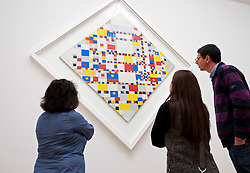 Painting Victory Boogie Woogie by Paul Mondriaan at the Gemeentemuseum in The Hague, Den Haag,  Netherlands