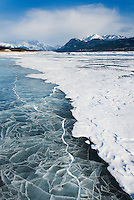Abraham Lake in winter, Alberta Canada
