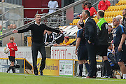 An appealing Bradford City Manager Phil Parkinson during the Sky Bet League 1 match between Bradford City and Sheffield Utd at the Coral Windows Stadium, Bradford, England on 20 September 2015. Photo by Simon Davies.