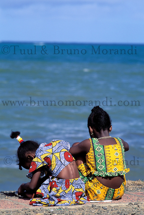 Young girls at carnival - Martinique (French Département d'outre Mer - DOM) - France<br /> French West Indie - Antilles françaises<br /> Caribbean