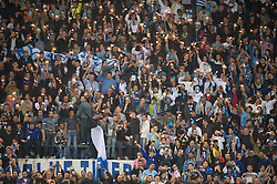 NAPELS, ITALY - Thursday, October 21, 2010: SSC Napoli supporters light sparklers before the UEFA Europa League Group K match against Liverpool at the Stadio San Paolo. (Pic by: David Rawcliffe/Propaganda)