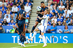 Jeison Murillo of Valencia challenges James Maddison of Leicester City - Mandatory by-line: Robbie Stephenson/JMP - 01/08/2018 - FOOTBALL - King Power Stadium - Leicester, England - Leicester City v Valencia - Pre-season friendly