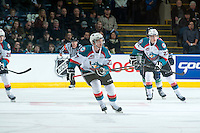 KELOWNA, CANADA - JANUARY 16: Josh Morrissey #27 of Kelowna Rockets skates against the Seattle Thunderbirds on January 16, 2015 at Prospera Place in Kelowna, British Columbia, Canada.  (Photo by Marissa Baecker/Shoot the Breeze)  *** Local Caption *** Josh Morrissey;
