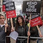 Hundreds of protestors against Israel soldiers killing of 28 Palestinians on Palestinian Land Day march and journalist in Gaze. Protestors demand the UK government to hold Israel crime and stop arming Israel and Palestinian right to return to Palestine build from blood and sweat thousands of years to the present on 7 April 2017 outside Downing Street, London, UK