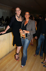 Left to right, AMY SACCO and at a party to celebrate the launch Amy Sacco's book 'Cocktails' held at Sanderson, 50 Berners Street, London W1 on 10th July 2006.<br /><br />NON EXCLUSIVE - WORLD RIGHTS