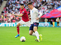 Football - 2018 / 2019 UEFA European Championships Qualifier - Group A: England vs. Bulgaria<br /> <br /> Mason Mount making his Debut as a second half substitute, with Strahil Popov at Wembley Stadium.<br /> <br /> COLORSPORT/ANDREW COWIE