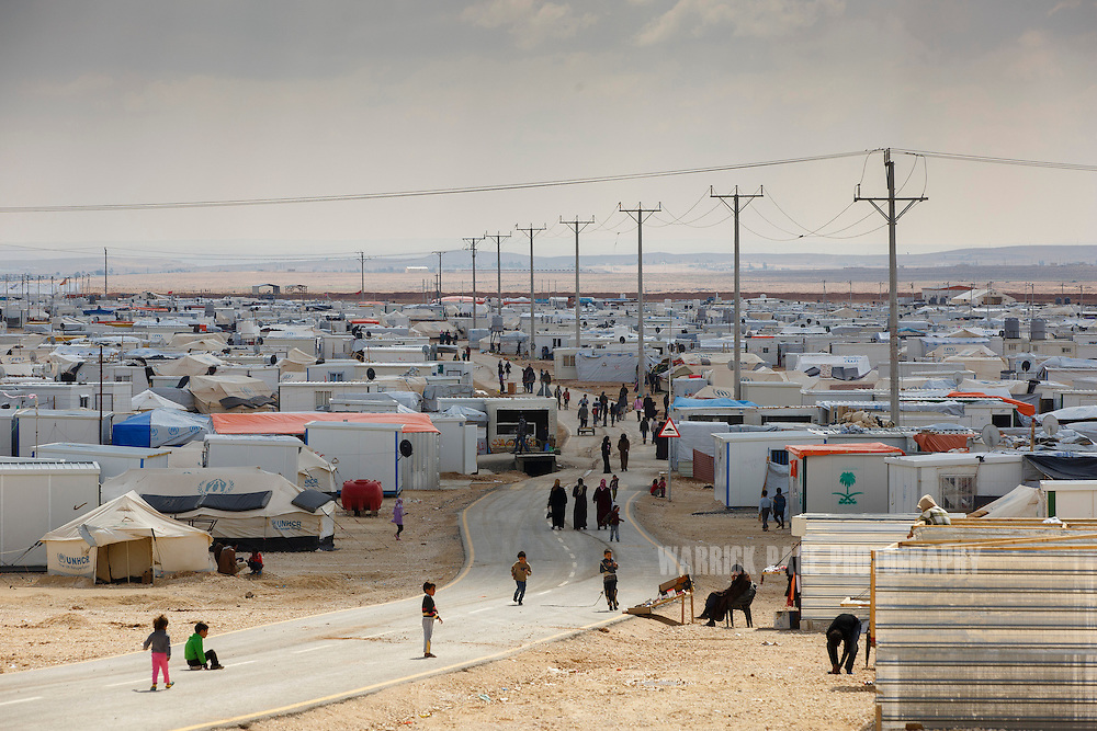 Overview of Zaatari Refugee Camp on March 15, 2014 in Al Mafraq, Jordan. (Warrick Page/Reportage by Getty Images for Le Monde)