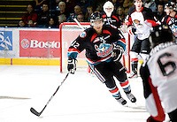 KELOWNA, CANADA, NOVEMBER 23: Tyrell Goulbourne #12 of the Kelowna Rockets skates on the ice against the Prince George Cougars visit the Kelowna Rockets  on November 23, 2011 at Prospera Place in Kelowna, British Columbia, Canada (Photo by Marissa Baecker/Shoot the Breeze) *** Local Caption *** Tyrell Goulbourne;