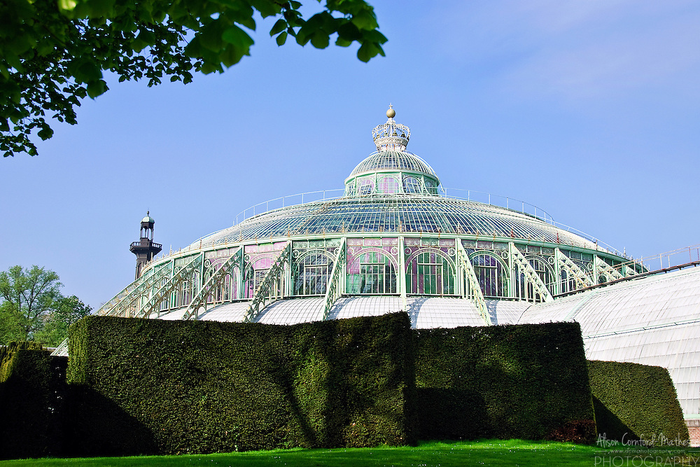 The glass dome covers the Winter Garden, 'Grote wintertuin' or 'Grand Jardin d'hiver'
