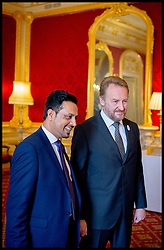 Image ©Licensed to i-Images Picture Agency. 08/07/2014. London, United Kingdom. Dr Waqar Azmi  and President of Bosnia and Herzegovina  Bakir Izetbegovic at the Srebrenica Memorial Reception at Lancaster House. Picture by Andrew Parsons / i-Images