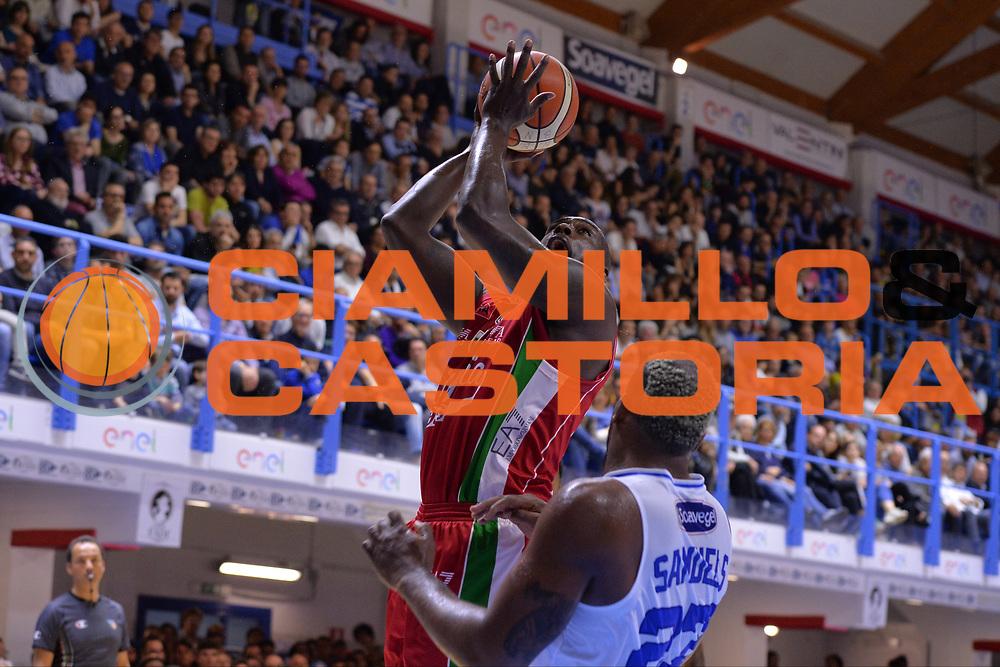 Sanders Rakim<br /> Enel Brindisi - EA7 Emporio Armani Milano<br /> BASKET Serie A 2016-2017<br /> Brindisi 15/04/2017<br /> FOTO CIAMILLO / M.Longo