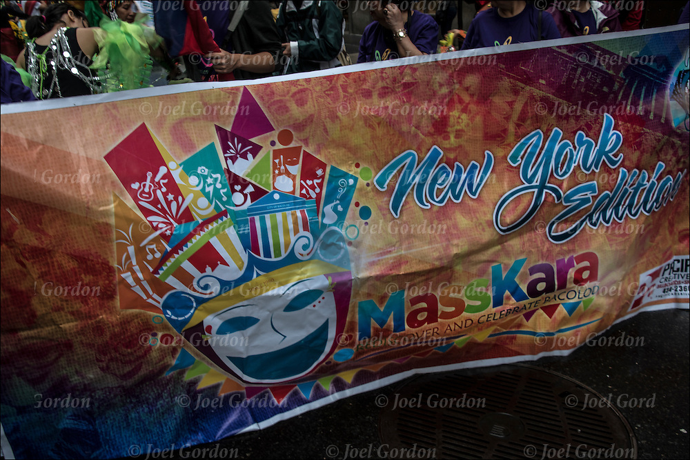 Filipino Masskara Pride during the Philippine Independence Day Parade in NYC.