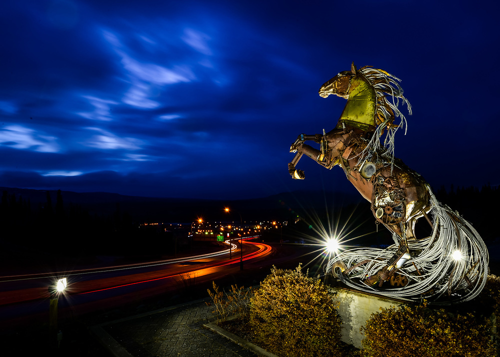 Chase away those clouds! Whitehorse, Yukon comes to life as a new day dawns.