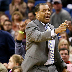 Feb 10, 2016; New Orleans, LA, USA; New Orleans Pelicans head coach Alvin Gentry against the Utah Jazz during the second half of a game at the Smoothie King Center. The Pelicans defeated the Jazz 100-96. Mandatory Credit: Derick E. Hingle-USA TODAY Sports
