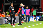 AFC Bournemouth manager Eddie Howe in the technical area during the Premier League match between Bournemouth and Brighton and Hove Albion at the Vitality Stadium, Bournemouth, England on 15 September 2017. Photo by Graham Hunt.