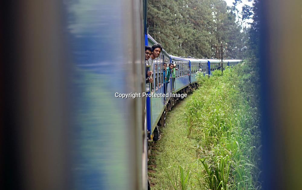 Train ride from Kandy to Nuwara Eliya, Sri Lanka