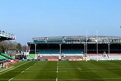 A general view of Twickenham Stoop, home of Harlequins, over looked by Twickenham Stadium - Mandatory by-line: Robbie Stephenson/JMP - 23/02/2019 - RUGBY - Twickenham Stoop - London, England - Harlequins v Bristol Bears - Gallagher Premiership Rugby