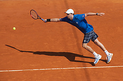 MONTE-CARLO, MONACO - Thursday, April 15, 2010: Mike Bryan (USA) during the Men's Doubles 2nd Round match on day four of the ATP Masters Series Monte-Carlo at the Monte-Carlo Country Club. (Photo by David Rawcliffe/Propaganda)