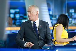 Jim White at the Sky Sports TV studio for the transfer Deadline Day show..© Michael Schofield...