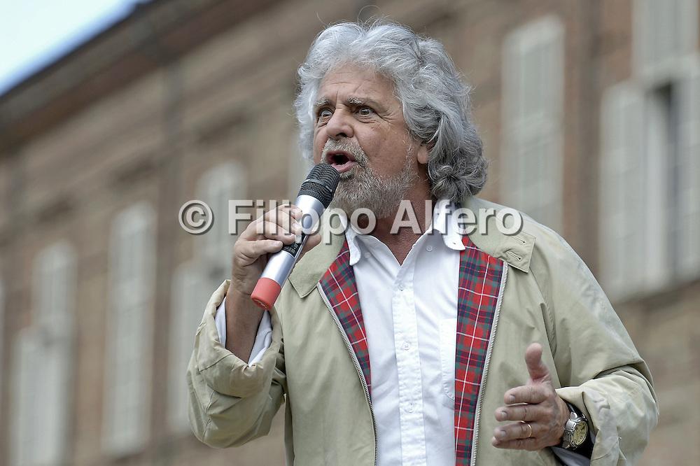 © Filippo Alfero<br /> Comizio elettorale Beppe Grillo Movimento 5 Stelle<br /> Torino, 17/05/2014<br /> politica<br /> Nella foto: Beppe Grillo