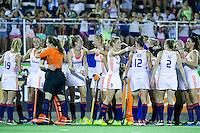 TUCUMAN Argentinie - Vreugde bij Oranje na het winnen van de finale. Finale tussen de vrouwen van Nederland en Australie (5-1) in de eindronde van de Hockey World League. Nederland winde HWL.  FOTO KOEN SUYK