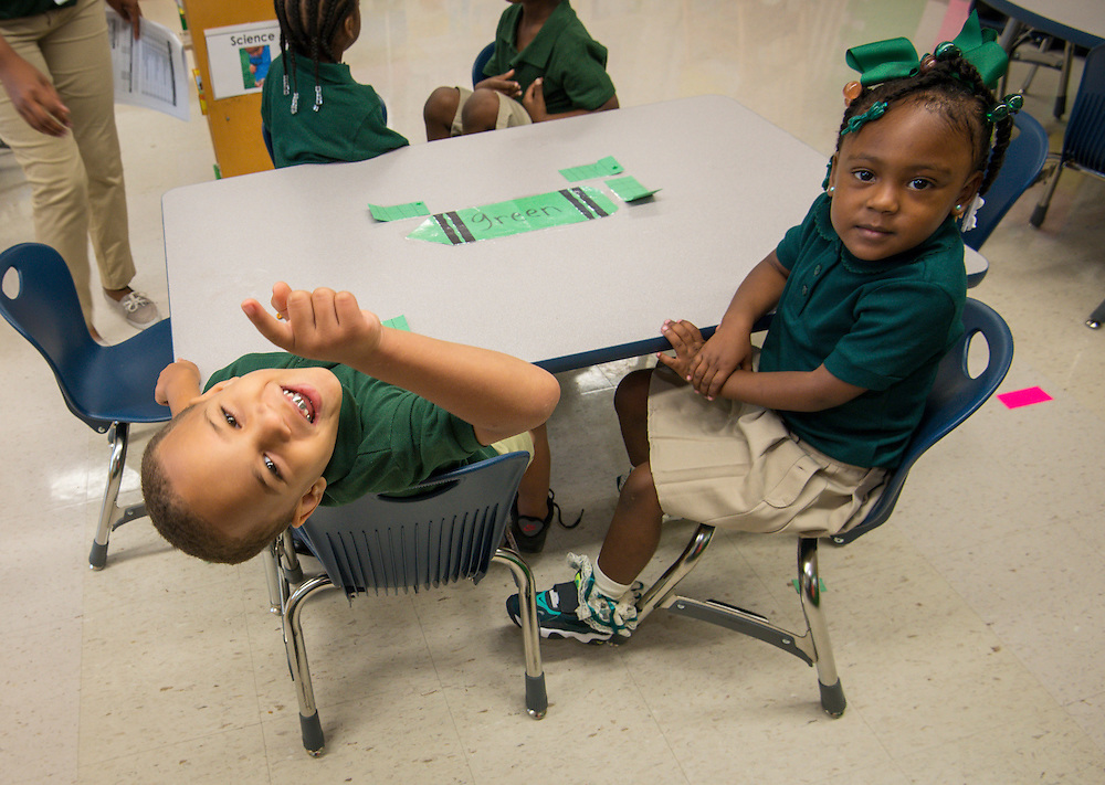 First day of school at Fonwood Early Childhood Center School, August 26, 2013.