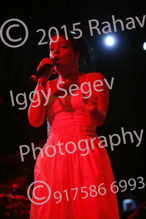 Lily Allen performing at the  Coachella Valley Music and Arts Festival at the Empire Polo Fields  2007 in Indio California on April 29, 2007. ..